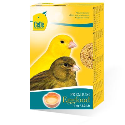 CéDé® egg food, available only in the original packaging!